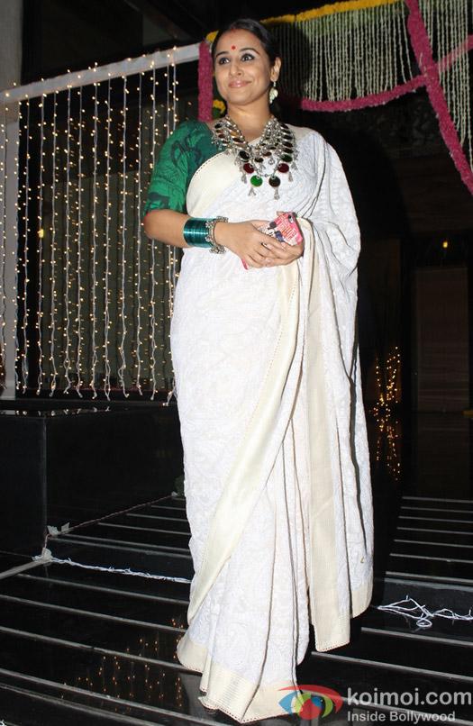 Vidya Balan during Aamir Khan's Diwali celebration