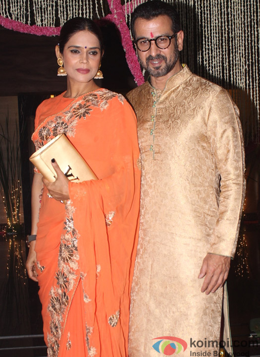 Ronit Roy along with his wife Neelam Singh during Aamir Khan's Diwali celebration