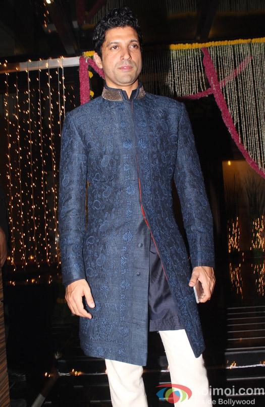 Farhan Akhtar during Aamir Khan's Diwali celebration