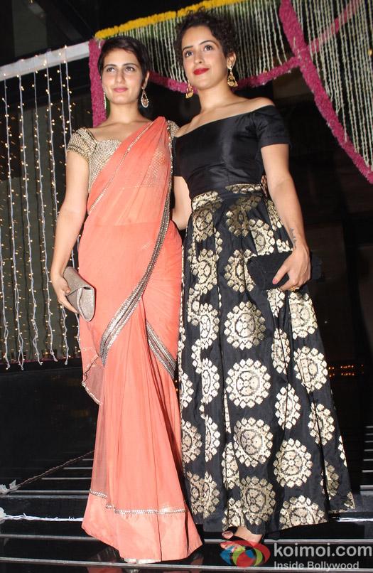 Fatima Sana Shaikh and Sanya Malhotra during Aamir Khan's Diwali celebration