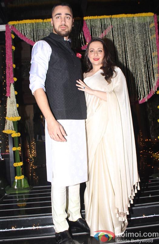 Imran Khan along with his wife Avantika Malik Khan during Aamir Khan's Diwali celebration