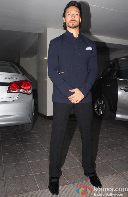 Tiger Shroff during Aamir Khan's Diwali celebration