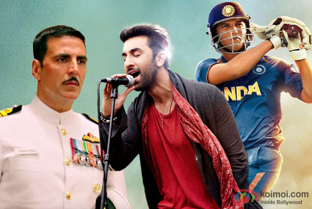 ADHM Beats Rustom & M.S. Dhoni - The Untold Story Worldwide Collections
