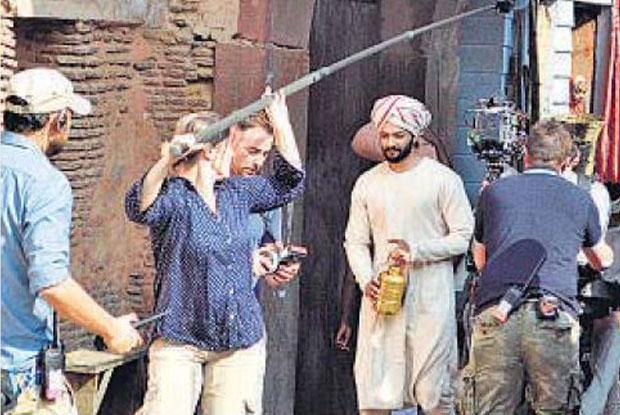 Ali Fazal shoots for his international movie in Agra