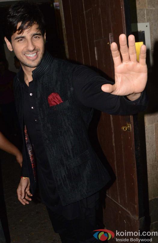 Sidharth Malhotra during the Anil Kapoor's Diwali celebrations