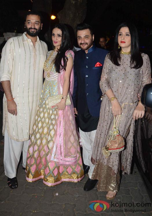 Sanjay Kapoor and Maheep Sandhu during the Anil Kapoor's Diwali celebrations