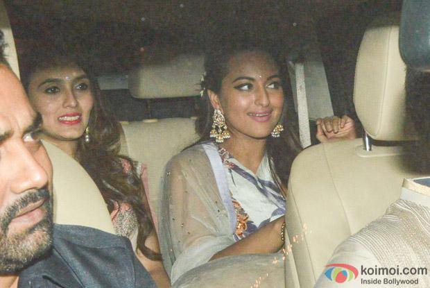 Sonakshi Sinha during the Anil Kapoor's Diwali celebrations