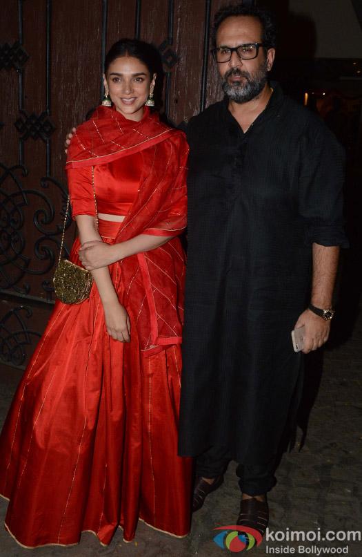 Aditi Rao Hyadri during the Anil Kapoor's Diwali celebrations