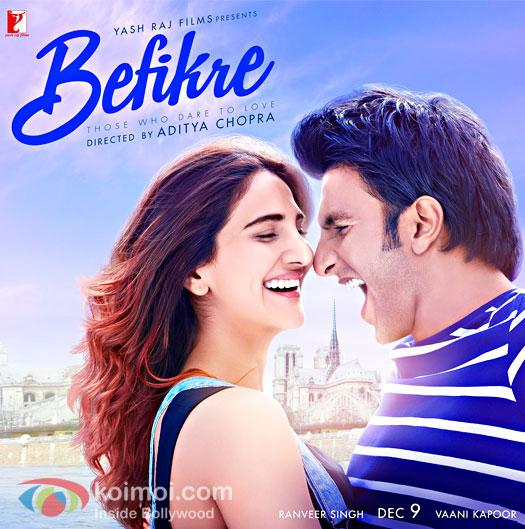 Vaani Kapoor and Ranveer Singh starrer Befikre poster