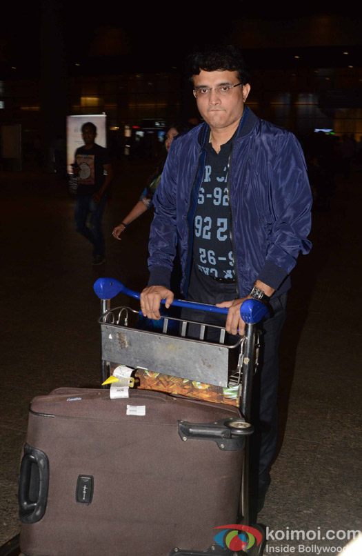 Sourav Ganguly spotted at Airport