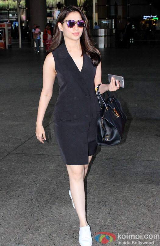 Tamnnaah spotted at Airport