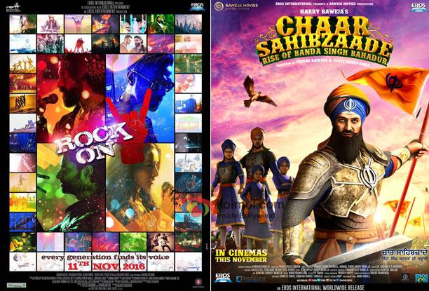 Box Office - Rock On 2 and Chaar Sahibzaade: Rise of Banda Singh Bahadur - Friday collections