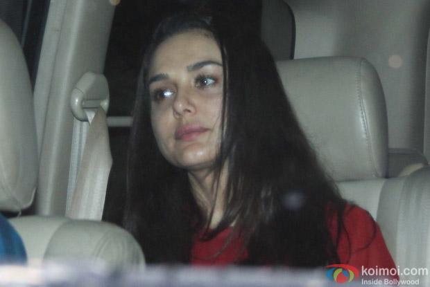 Preity Zinta at Salman Khan's House