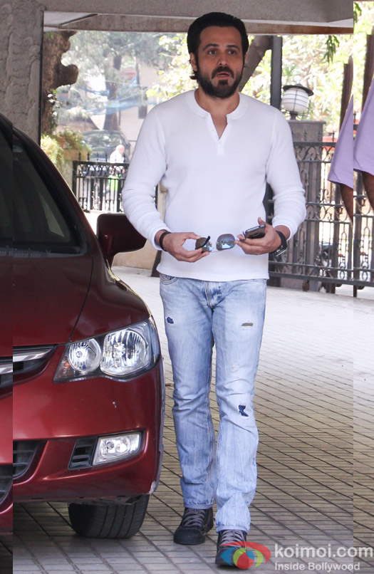 Emran Hashmi spotted at Milan Lutharia house