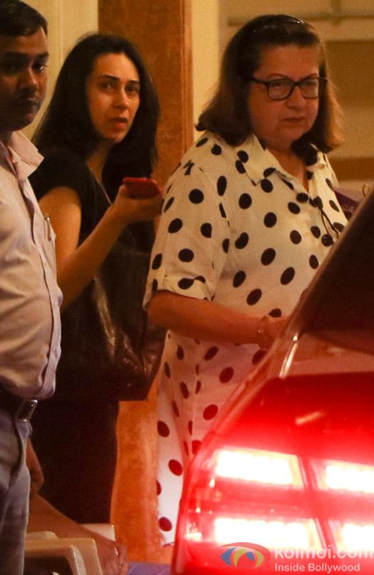 Karishma Kapoor and Babita spotted at Kareena Kapoor's House