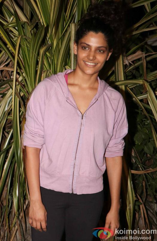 Sayami Kher spotted at Bandra