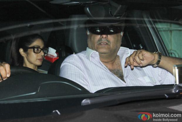 Sridevi and Boni Kapoor at Salman Khan's House