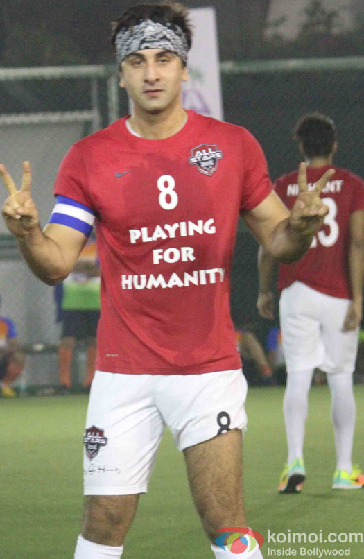 Ranbir Kapoor during the All Stars Football Club (ASFC) football match for charity cause