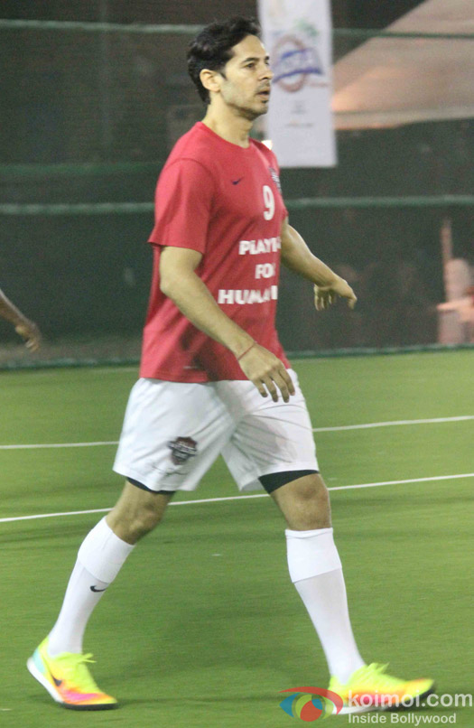 Dino Morea during the All Stars Football Club (ASFC) football match for charity cause