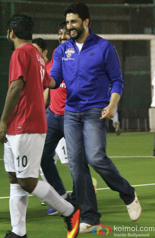 Abhishek Bachchan during the All Stars Football Club (ASFC) football match for charity cause