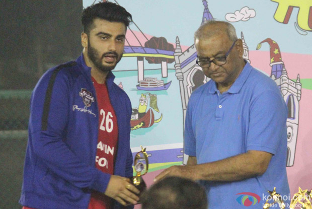 Arjun Kapoor during the All Stars Football Club (ASFC) football match for charity cause