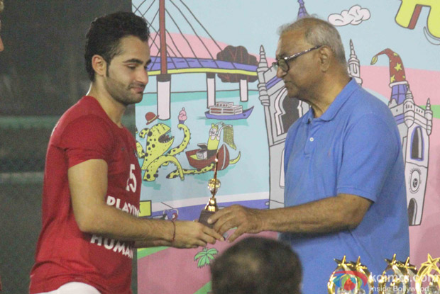 Armaan jain during the All Stars Football Club (ASFC) football match for charity cause