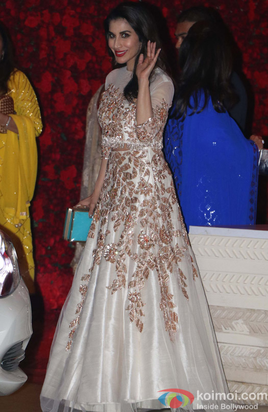 Sophie Choudry spotted at Mukesh Ambani,s party