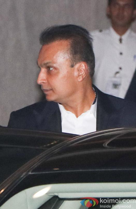 Anil Ambani spotted at Mukesh Ambani,s party
