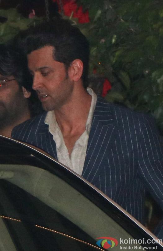 Hrithik Roshan spotted at Mukesh Ambani,s party