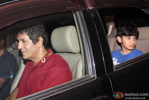 Chunky Pandey in Alibaug during SRK's birthday bash