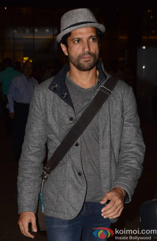 Farhan Akhtar spotted at Airport