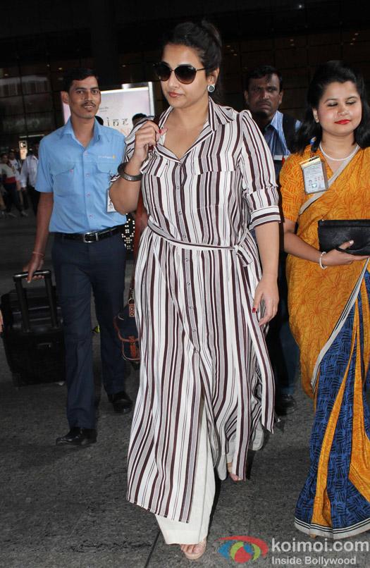 Vidya Balan spotted at Airport