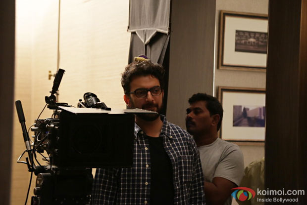 Sahil Sangha on the sets of The Secret To My Stability