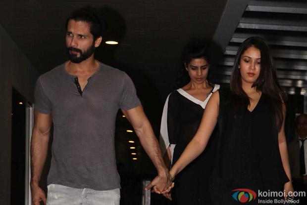 Shahid Kapoor with his wife Mira spotted at Hakkasan Bandra