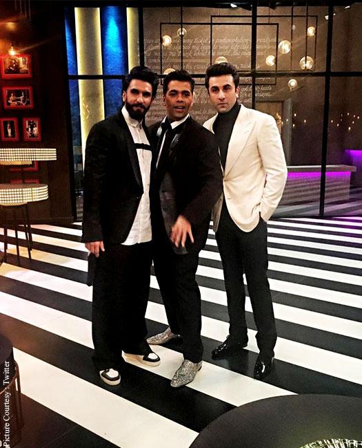 Koffee With Karan Season 5: Hotties Ranveer Singh And Ranbir Kapoor Share The Couch!