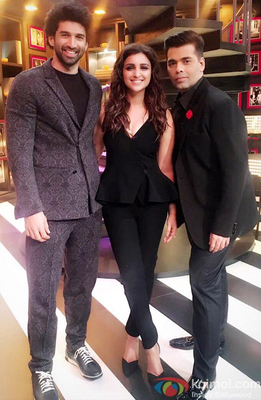 Aditya Roy Kapoor and Parineeti Chopra at Koffee With Karan