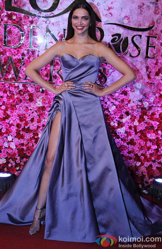 Deepika Padukone during the Lux Golden Rose Awards 2016