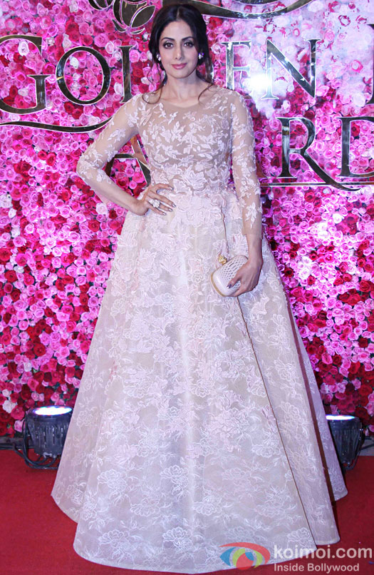 Sridevi during the Lux Golden Rose Awards 2016