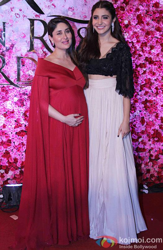 Kareena Kapoor Khan and Anushka Sharma during the Lux Golden Rose Awards 2016