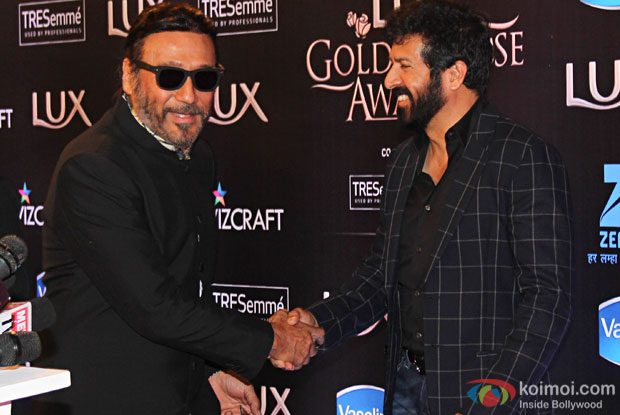Jackie Shroff and Kabir Khan during the Lux Golden Rose Awards 2016