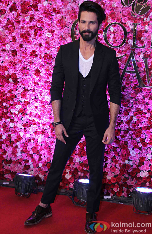 Shahid Kapoor during the Lux Golden Rose Awards 2016