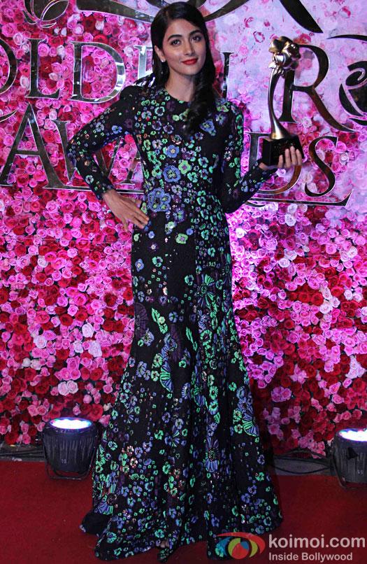 Pooja Hegde during the Lux Golden Rose Awards 2016