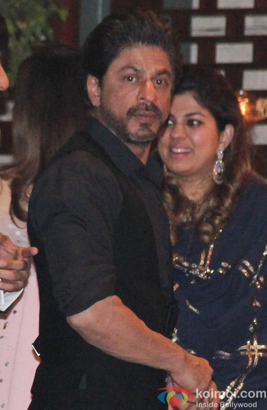 Shah Rukh Khan at Mukesh and Nita Ambani's niece Isheta's Pre wedding Party