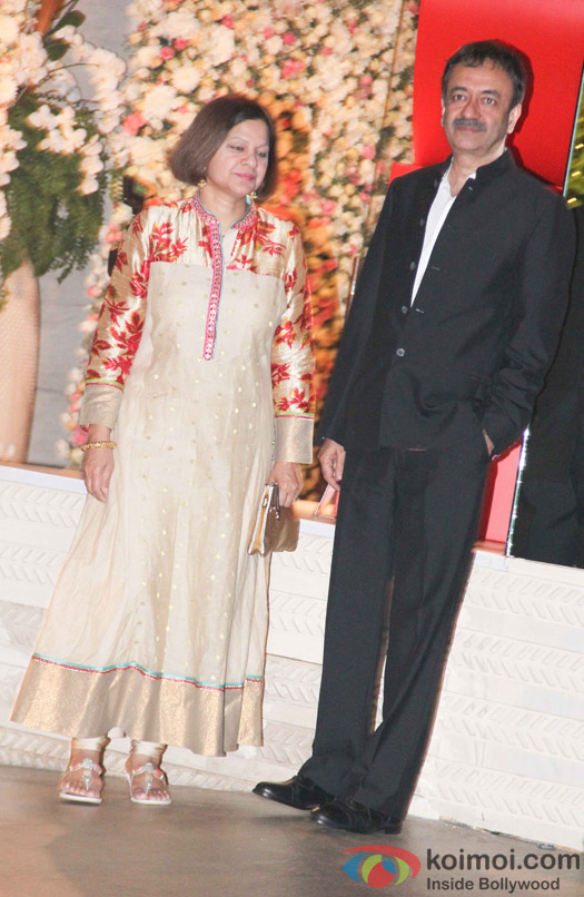 Raju Hirani along with wife at Mukesh and Nita Ambani's niece Isheta's Pre wedding Party