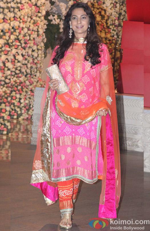 Juhi chawala at Mukesh and Nita Ambani's niece Isheta's Pre wedding Party
