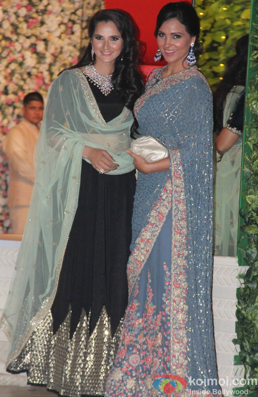 Sania Mirza and Lara Dutta at Mukesh and Nita Ambani's niece Isheta's Pre wedding Party