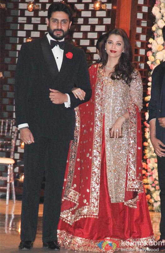 Abhishek Bachchan and Aishwarya Rai Bachchan at Mukesh and Nita Ambani's niece Isheta's Pre wedding Party