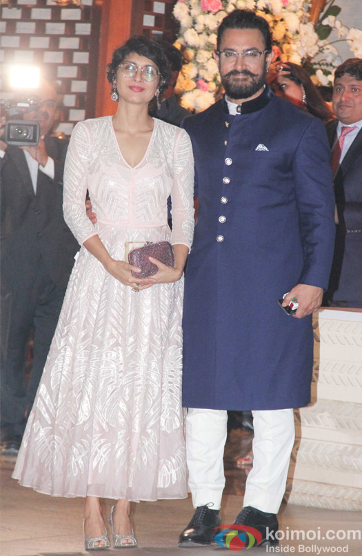 Kiran Rao and Aamir Khan at Mukesh and Nita Ambani's niece Isheta's Pre wedding Party