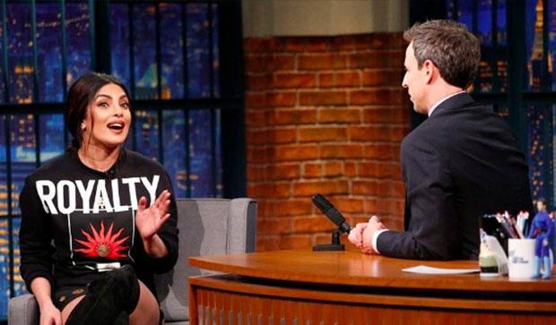 Priyanka Chopra Appears On 'Late Night With Seth Meyers'