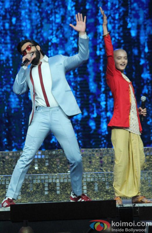 Ranveer Singh during the Promotion of film Befikre on the sets of Super Dancer